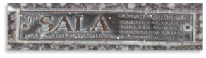 Sala Manufacturing label for Heater and Mantel