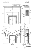 Heater and Mantel Unit Patent # 01596456 - Sala Invention
